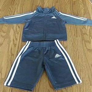 adidas Jogging Set Gray & White Sz 3MO